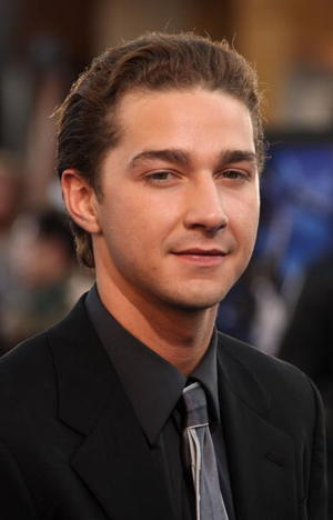 "Shia LaBeouf at the ""Transformers"" premiere."