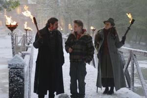 """Alexander Ludwig and Ian McShane in """"The Seeker: The Dark is Rising."""""""