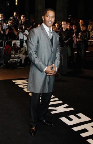 """The Kingdom"" star Jamie Foxx at the London premiere."