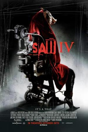 "Poster art for ""Saw IV."""