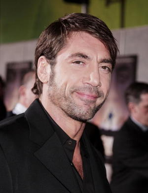 """""""No Country for Old Men"""" star Javier Bardem at the Hollywood premiere."""