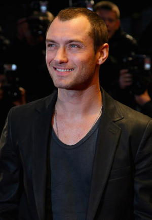 """Actor Jude Law at the London premiere of """"Sleuth."""""""
