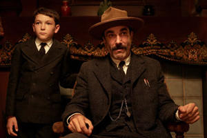 "Dillion Freasier and Daniel Day-Lewis in ""There Will be Blood."""