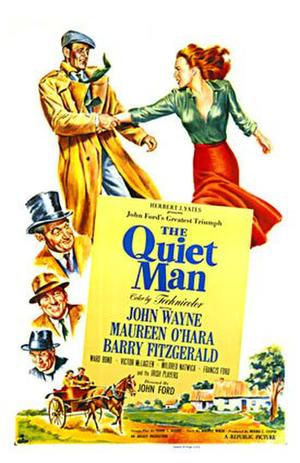 "Poster art for ""The Quiet Man."""