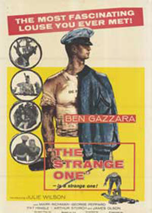 "Poster art for ""The Strange One."""