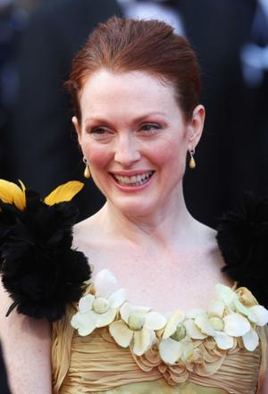 """Julianne Moore at the premiere of """"Blindness"""" during the 61st International Cannes Film Festival."""