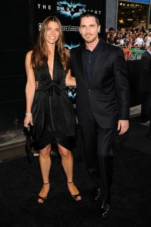 "Christian Bale and Guest at the New York premiere of ""The Dark Knight."""