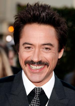 "Robert Downey Jr. at the California premiere of ""Tropic Thunder."""
