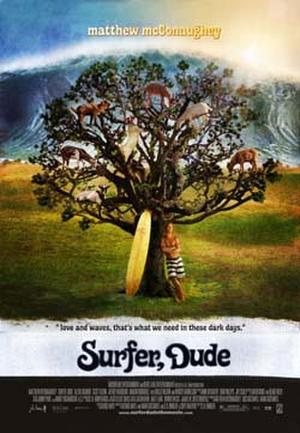 "Poster art for ""Surfer, Dude."""