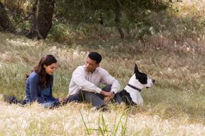"Rosario Dawson and Will Smith in ""Seven Pounds."""