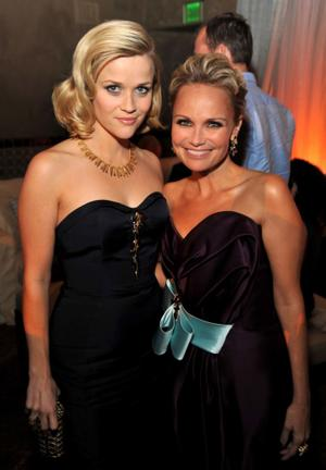 "Reese Witherspoon and Kristin Chenoweth at the after party of the California premiere of ""Four Christmases."""