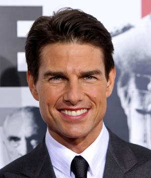 "Tom Cruise at the New York premiere of ""Valkyrie."""
