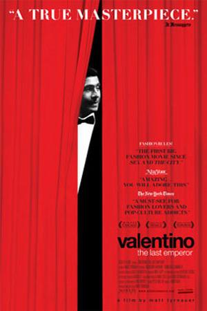 "Poster art for ""Valentino: The Last Emperor."""