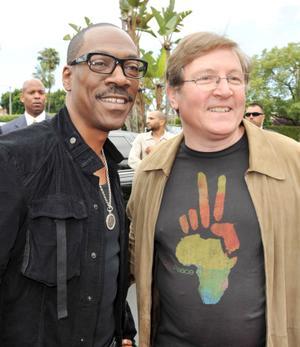 "Eddie Murphy and Lorenzo di Bonaventura at the California premiere of ""Imagine That."""