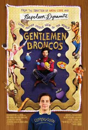 "Poster art for ""Gentlemen Broncos."""