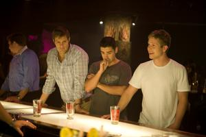 "Geoff Stults as Dan, Jesse Bradford as Drew and Matt Czuchry as Tucker Max in ""I Hope They Serve Beer in Hell."""