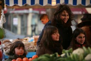 "Arthur Dujardin, Marie Drion, Iris Grillet as Elise's children and Juliette Binoche as Elise in ""Paris."""