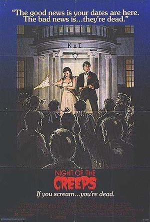 "Poster art for ""Night of the Creeps."""