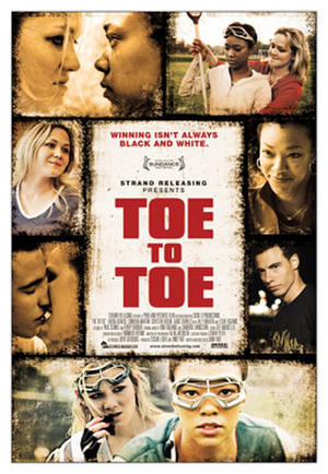 """Poster art for """"Toe to Toe."""""""