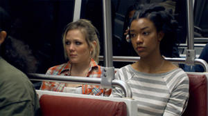 """Louisa Krause and Sonequa Martin in """"Toe to Toe."""""""