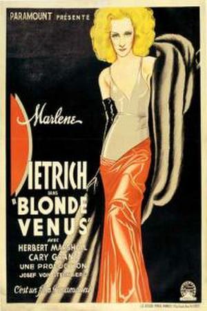"Poster art for ""Blonde Venus."""