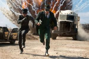 "Jay Chou and Seth Rogen in ""The Green Hornet."""