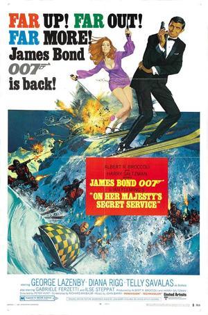 "Poster art for ""On Her Majesty's Secret Service."""