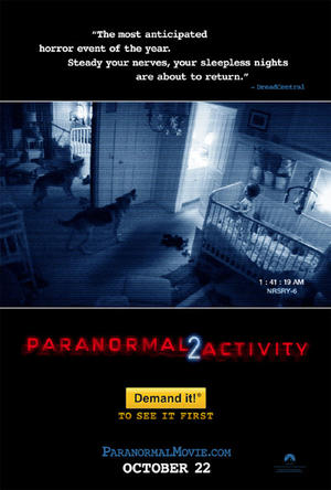 "Poster art for ""Paranormal Activity 2: The IMAX Experience."""