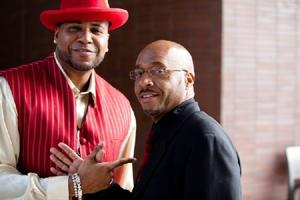 "E. Raymond Brown and Vincent Ward in ""GhettoPhysics: Will the Real Pimps and Hos Please Stand Up?"""