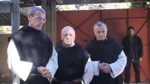 "Lambert Wilson as Christian, Jean-Marie Frin as Paul and Philippe Laudenbach as Celestin in ""Of Gods and Men."""
