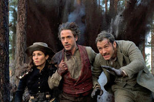 "Noomi Rapace, Robert Downey Jr. and Jude Law in ""Sherlock Holmes 2"""