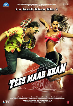 "Poster art for ""Tees Maar Khan."""