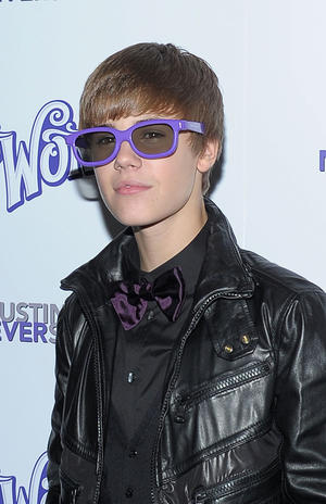"""Justin Bieber at the New York premiere of """"Justin Bieber: Never Say Never."""""""