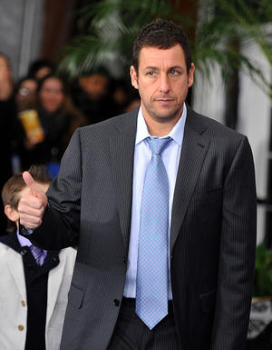 """Adam Sandler at the New York premiere of """"Just Go With It."""""""