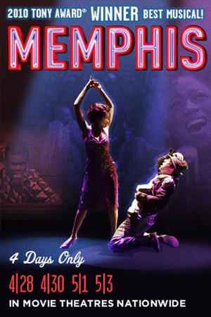 "Poster art for ""Memphis Broadway Musical."""