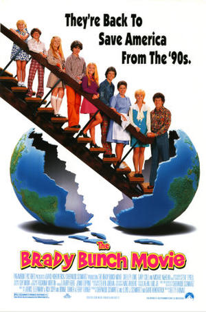 "Poster art for ""The Brady Bunch Movie."""