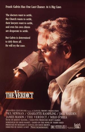 "Poster art for ""The Verdict."""