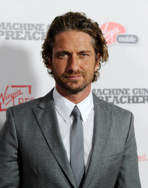"Gerard Butler at the California premiere of ""Machine Gun Preacher."""