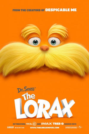 "Poster art for ""The Lorax 3D."""