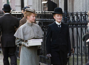 "Mia Wasikowska and Glenn Close in ""Albert Nobbs."""
