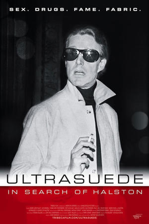 "Poster art for ""Ultrasuede: In Search of Halston."""
