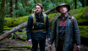 "Willem Dafoe and Sam Neill in ""The Hunter."""