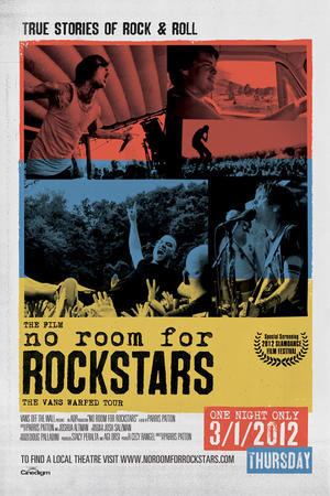"Poster art for ""No Room for Rock Stars."""