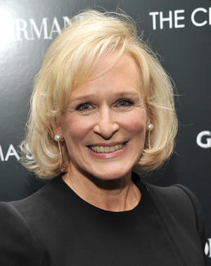 "Glenn Close at the New York premiere of ""Albert Nobbs."""