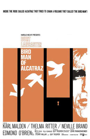 "Poster art for ""Birdman of Alcatraz."""