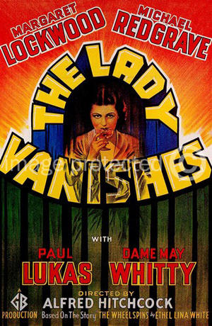 "Poster art for ""The Lady Vanishes."""