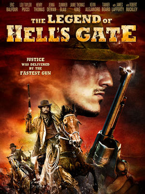"Poster art for ""The Legend of Hell's Gate: An American Conspiracy."""