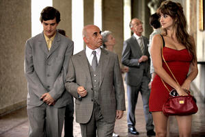 "Alessandro Tiberi as Antonio, Roberto Della Casa as Uncle Paolo and Penelope Cruz as Anna in ""To Rome With Love."""