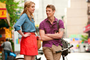 "Greta Gerwig and Joel Kinnaman in ""Lola Versus."""