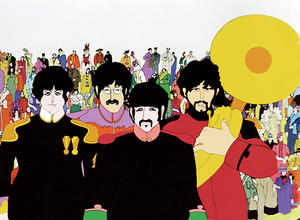 "A scene from ""Yellow Submarine."""